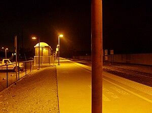 San Martin, California - Caltrain platform, San Martin