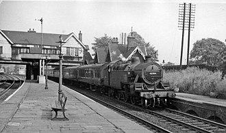 Leeds and Bradford Railway - Image: Calverley & Rodley Station geograph 2197387