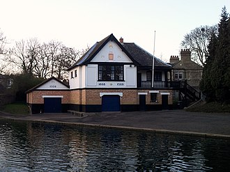 Murray Edwards College Boat Club - Image: Cambridge boathouses Peterhouse