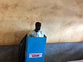 Cameroonian opposition candidate Cabral Libii voting in Yaounde during the 2018 presidential election.jpg