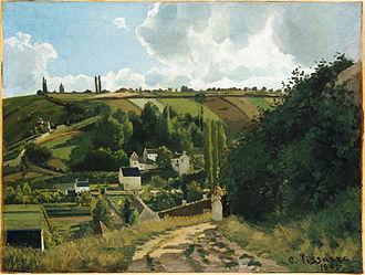 Camille Pissarro - Jalais Hill, Pontoise, 1867. Metropolitan Museum of Art