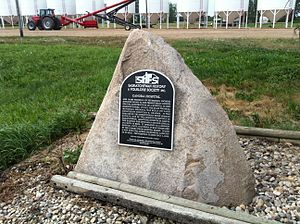 Canora, Saskatchewan - A historical marker for the old Canora Hospital.