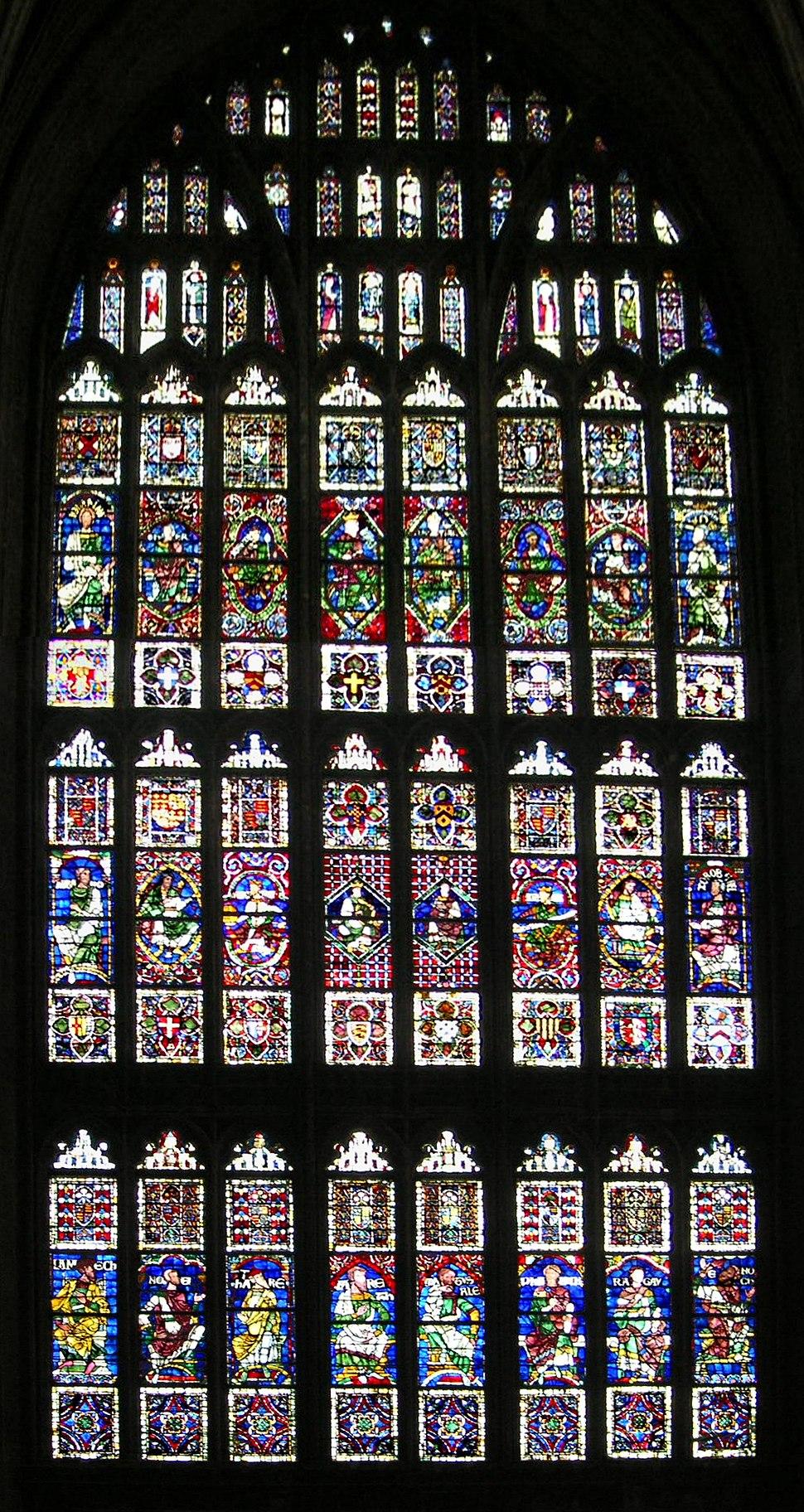 Canterbury Cathedral window crop