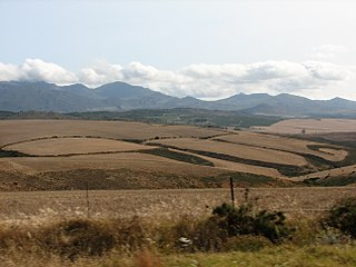 Overberg Region of the Weatern Cape in South Africa, east of Cape Town
