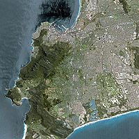 Cape Town seen from Spot satellite
