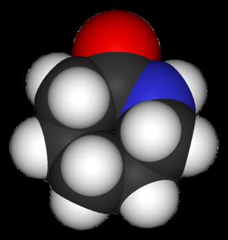 Caprolactam - Image: Caprolactam 3D vd W