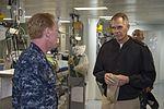 Capt David O. Bynum, chaplain, U.S. Pacific Fleet, tours USS Bonhomme Richard (LHD 6) 170214-N-XK809-232.jpg