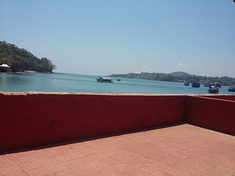 Ross Island, South Andaman district - The first sight at Ross Island