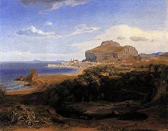 Cefalù - Cefalù in 1830, by Carl Anton Joseph Rottmann.