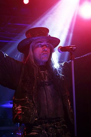 Fields of the Nephilim - Singer Carl McCoy, pictured in 2008