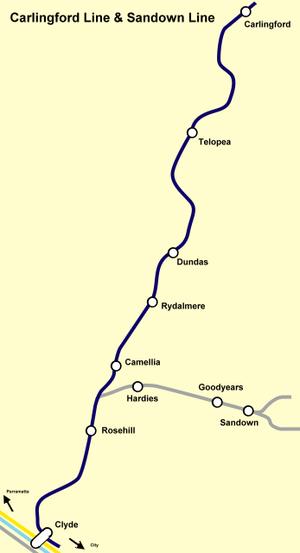 Parramatta Light Rail - The Carlingford and Sandown railway lines