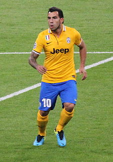 Carlos Tévez, Real Madrid vs Juventus, 24 October 2013 Champions League.JPG