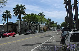 Carpinteria, California - Linden Avenue (looking toward the beach)