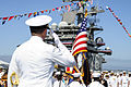 Carrier Strike Group Nine change of command, Rear Adm. Patrick D. Hall retirement ceremony 2014 140814-N-UK306-030.jpg