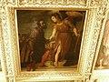 Casa buonarroti, galleria, soffitto, francesco curradi, fama esalta michelangelo sugli artisti che lo precedettero, 1616-17.JPG