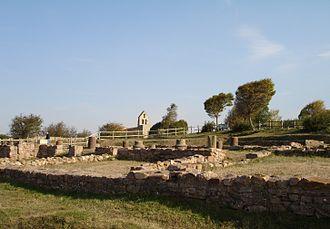 Campoo de Enmedio - Detail of the Roman ruins of Juliobriga.