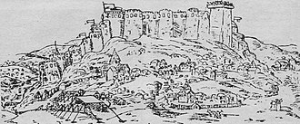 Gori, Georgia - Gori Fortress as of 1642, by an Italian missionary, Cristoforo Castelli