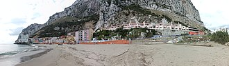 Catalan Bay - Image: Catalan Bay, Gibraltar panorama