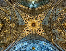 Ceiling of a shabestan in Fatima Masumeh Shrine, qom, iran, 2.jpg
