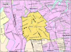 Census Bureau map of Eatontown, New Jersey