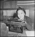 Centerville, California. Stenographer for Japanese American Citizens League of Mt. Eden township. . . . - NARA - 536416.tif