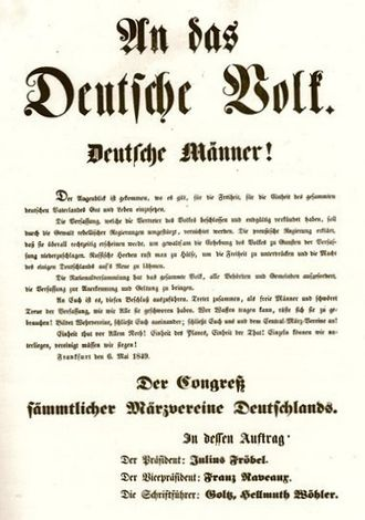 Imperial Constitution campaign - Proclamation of the Central March Union dated 6 May 1849