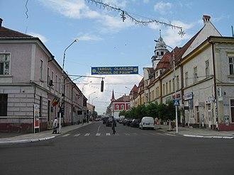 Rădăuți - Ştefan cel Mare Street, downtown Rădăuţi