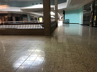 Dead mall Shopping center with low occupancy