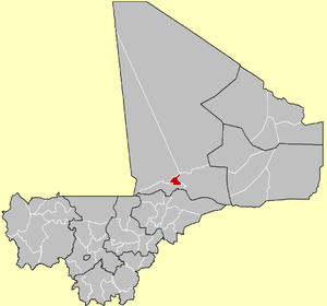 Location of the Cercle of Diré in Mali