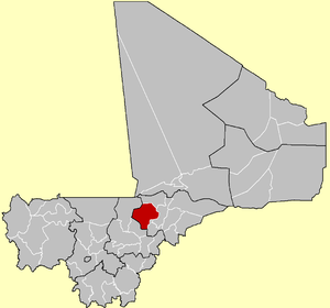 Location of the Cercle of Ténenkou in Mali