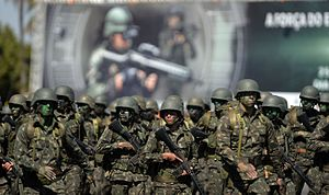 Brazilian Armed Forces - Brazilian troops on the march.