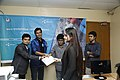 Certificate given in Bangla Wikipedia Editors' Assembly at CIU (03).jpg