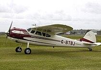 Cessna 195 businessliner g-btbj of 1952 arp.jpg