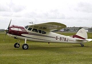 Cessna 195 American light single radial engine aircraft