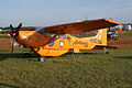 Cessna A185F Skywagon Polar Pumpkin N90SN LSideFront SNF 04April2014 (14584499744).jpg