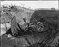 CfO0167 museum no. C55000 1 Osebergskipet utgravning (Oseberg ship excavation 1904. Photo Olaf Væring, Kulturhistorisk museum UiO Oslo, Norway. License CC BY-SA 4.0).jpg