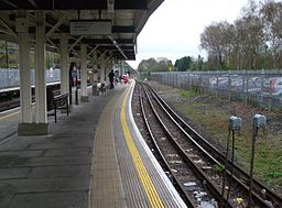 Chalfont & Latimer station Chesham bay look north