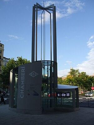 Platform 0 (Madrid Metro) - Ground-level entrance to the Estación de Chamberí