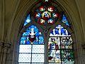 Champeaux (77), collégiale St-Martin, collatéral nord, vitrail de la 3e travée 1.jpg