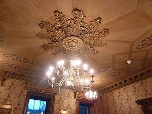 Ceiling rose - Chandelier and ceiling rose, Glynllifon