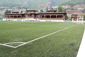Changlimithang Stadium - Field-level view
