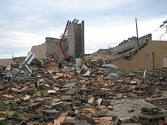 Chapman High School (Kansas) - Chapman High School tornado damage, June 2008