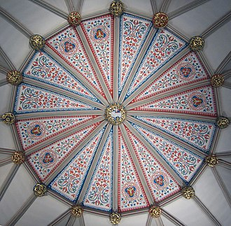 Keystone (architecture) - Image: Chapter House ceiling (crop 1)