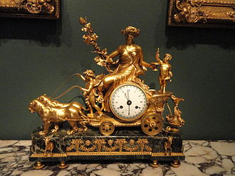 Chariot clock - Image: Chariot of the Harvest (clock), movement by Noel Bourret, case unknown, c. 1800 Corcoran Gallery of Art DSC01200