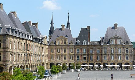 Place Ducale in Charleville-Mezieres, prefecture of the Ardennes department. Charleville place ducale.jpg