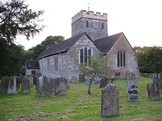 Church of St Nicholas, Charlwood Church in Surrey, England
