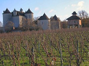 Caillac - Image: Chateau lagrezette