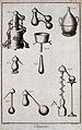 Chemistry; equipment for distillation. Engraving by Prevost Wellcome V0025479ER.jpg