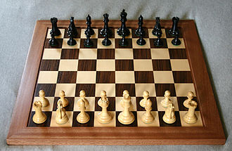 Outline of chess - Starting position of a game of chess