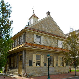Delaware County, Pennsylvania - The old Chester Courthouse, built in 1724.